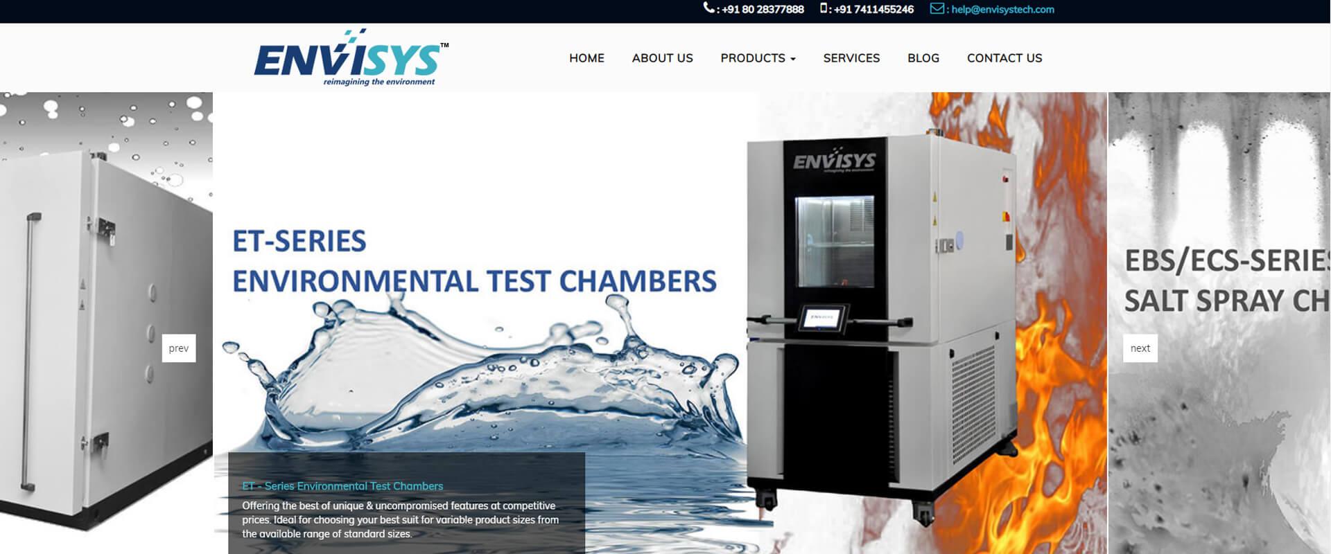 Envisystech Website Design Layout