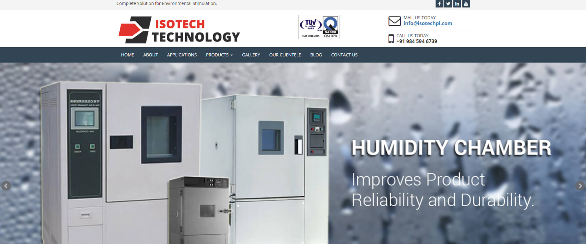 ISOTECH Website Design Layout