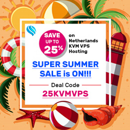 25% Offer on Netherlands KVM