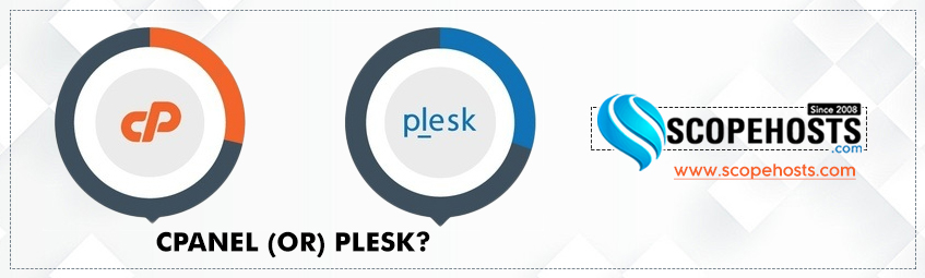 cPanel and Plesk are the top web hosting control panels